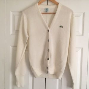 Vintage Lacoste V Neck Button Down Cardigan